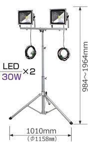 LED2灯式ライト